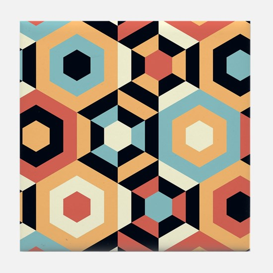 Retro Pattern Tile Coaster