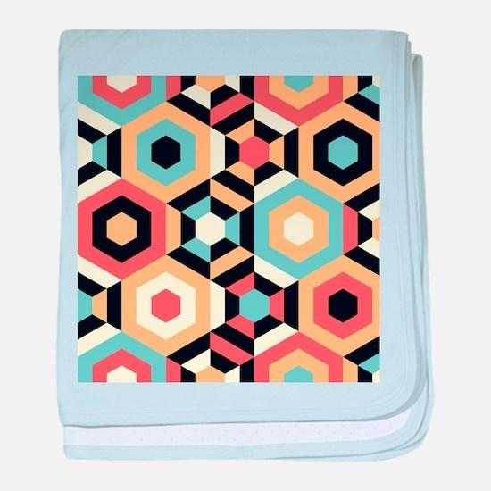 Retro Pattern baby blanket