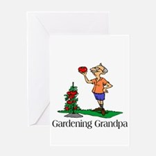 Gardening Grandpa Greeting Cards