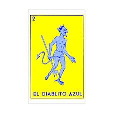 El Diablito Azul I Rectangle Decal