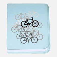 Bicycles baby blanket