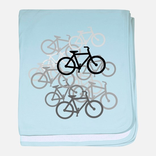 Bicycles baby blanket