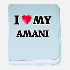 I love my Amani baby blanket