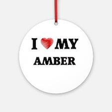 I love my Amber Round Ornament