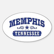 Memphis Tennessee Sticker (Oval)