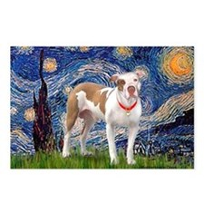 Starry Night Pitbull Postcards (Package of 8)