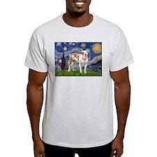 Starry Night Pitbull T-Shirt
