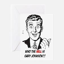 Unique Gary johnson Greeting Card