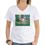 Bridge / Pitbull Women's V-Neck T-Shirt