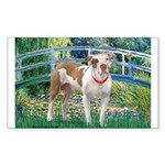 Bridge / Pitbull Sticker (Rectangle)