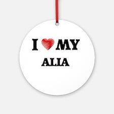 I love my Alia Round Ornament
