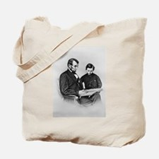 Lincoln Reading to Son Tod Tote Bag