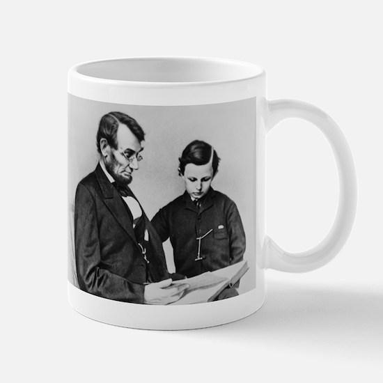 Lincoln Reading to Son Tod Mug