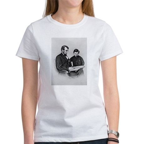 Lincoln Reading to Son Tod Women's T-Shirt