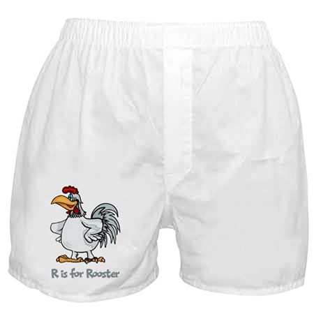R is for Rooster Boxer Shorts