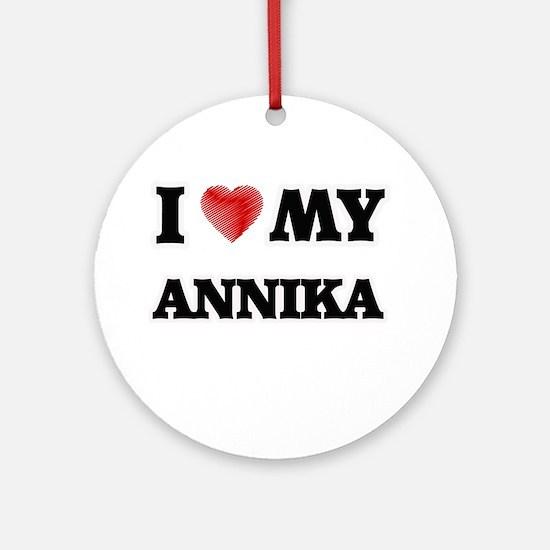 I love my Annika Round Ornament