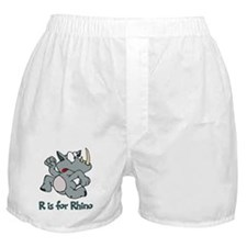 R is for Rhino Boxer Shorts