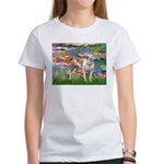 Lilies & Pitbull Women's T-Shirt