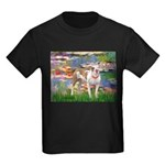 Lilies & Pitbull Kids Dark T-Shirt