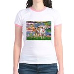 Lilies & Pitbull Jr. Ringer T-Shirt