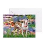 Lilies & Pitbull Greeting Cards (Pk of 20)