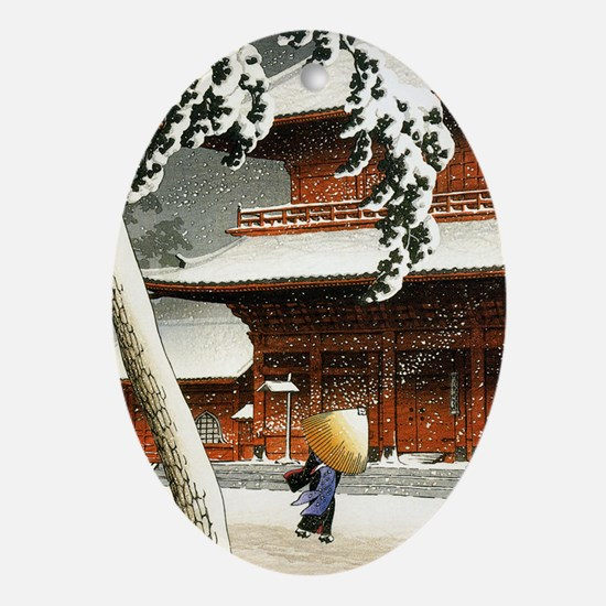 JAPANESE SNOW_VINTAGE SNOW BLOCK PRI Oval Ornament