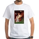 Seated Angel / Pitbull White T-Shirt