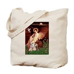 Seated Angel / Pitbull Tote Bag
