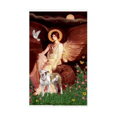 Seated Angel / Pitbull Decal