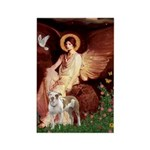 Seated Angel / Pitbull Rectangle Magnet