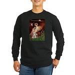 Seated Angel / Pitbull Long Sleeve Dark T-Shirt