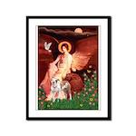 Seated Angel / Pitbull Framed Panel Print