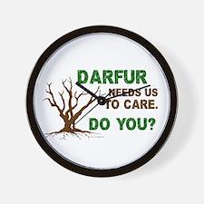 Darfur Needs Us To Care Wall Clock