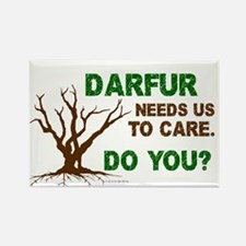 Darfur Needs Us To Care Rectangle Magnet