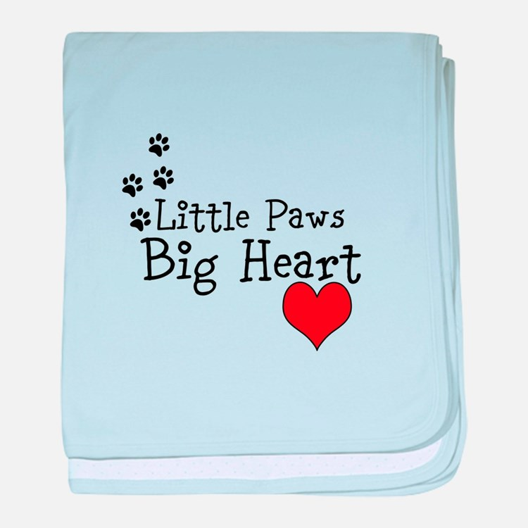 Little Paws Big Heart baby blanket