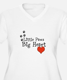 Little Paws Big Heart Plus Size T-Shirt