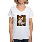 Windflowers / Pitbull Women's V-Neck T-Shirt