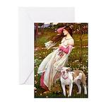 Windflowers / Pitbull Greeting Cards (Pk of 20)