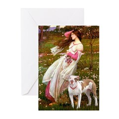 Windflowers / Pitbull Greeting Cards (Pk of 10)