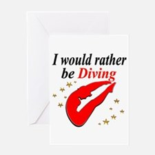 BEST DIVER Greeting Card