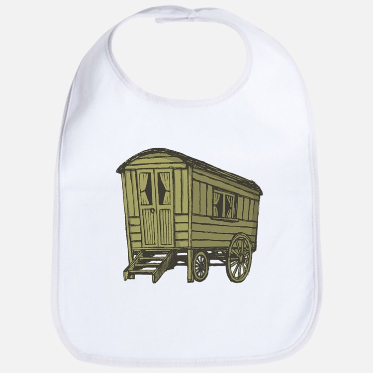 Gypsy caravan wagon Bib
