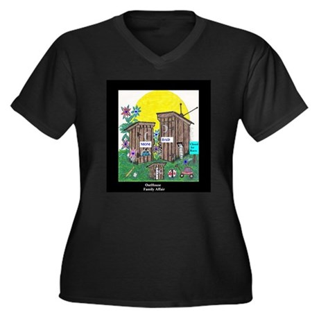 Outhouse Series/Family Affair Women's Plus Size V-