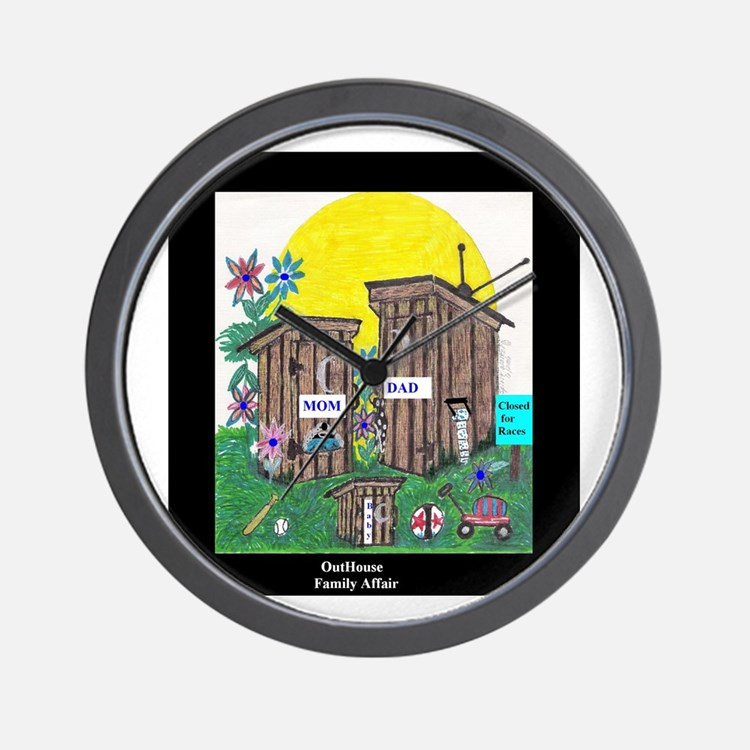 Outhouse Series/Family Affair Wall Clock