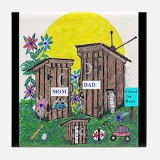Outhouse Series/Family Affair Tile Coaster