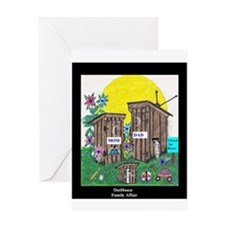 Outhouse Series/Family Affair Greeting Card