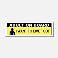 Adult On Board Car Magnet 10 x 3