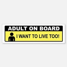 Adult On Board Bumper Bumper Bumper Sticker