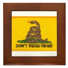 Don't Tread on Me! Framed Tile