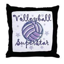 Volleyball Superstar Throw Pillow
