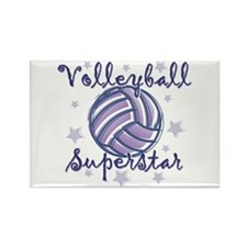 Volleyball Superstar Rectangle Magnet